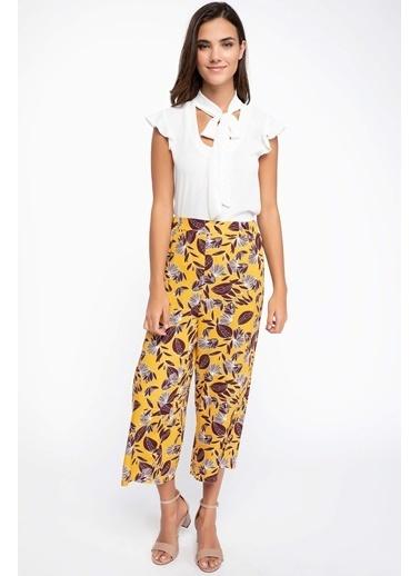 DeFacto Elastik Bel Pantolon Sarı
